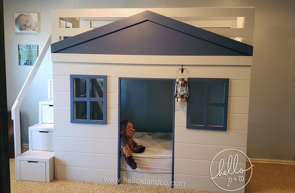 Image of Clubhouse Solid Wood Loft Bed