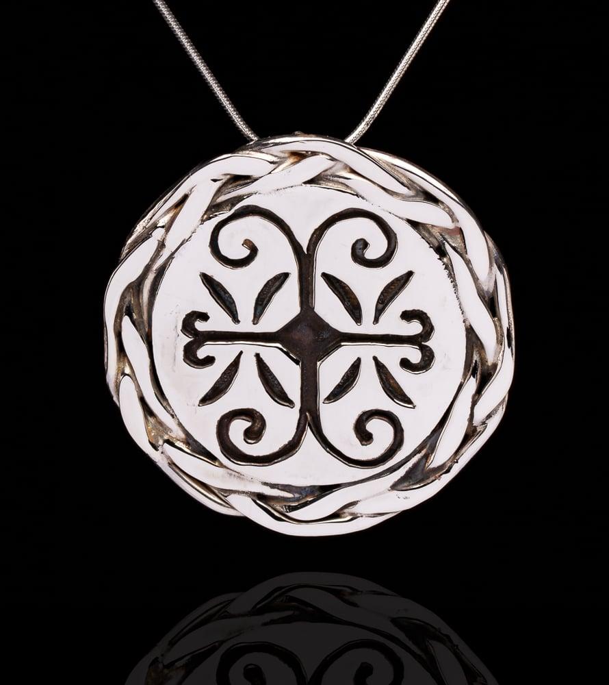 Image of Wolastokiyik skicinuwihq,  people or the beautiful river, braided pendant