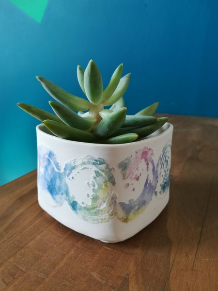 Image of Square Succulent Pot