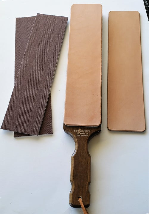 Image of Replacement magnetic pads for Straight Razor Designs Lynn Abrams mudular paddle strop