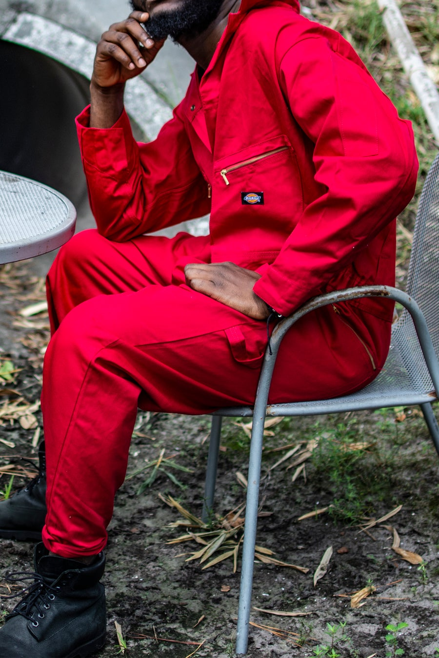Image of country red suit