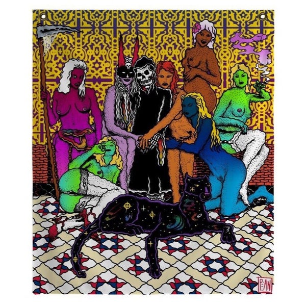 Image of Grim Creaper and The Lust Bunnies tapestry