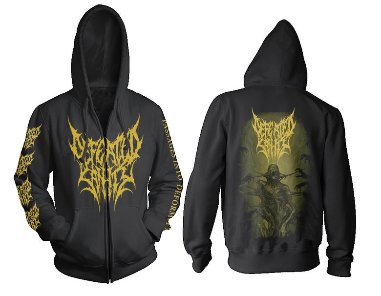 "Image of Zip Hoodie ""Passages into Deformity"""