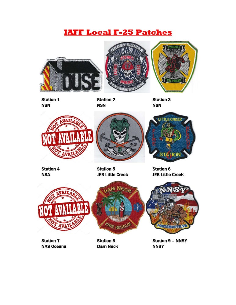 Image of IAFF Local F-25 Patches