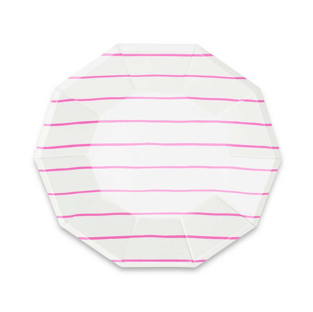 Image of Frenchie Striped Large Plates