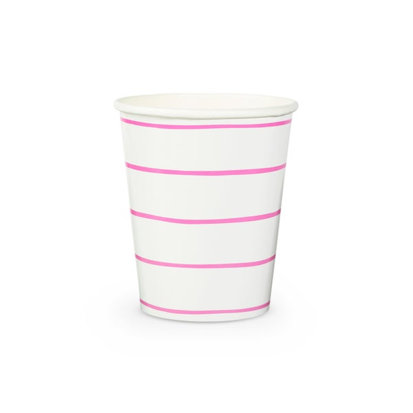 Image of Frenchie Striped Cups