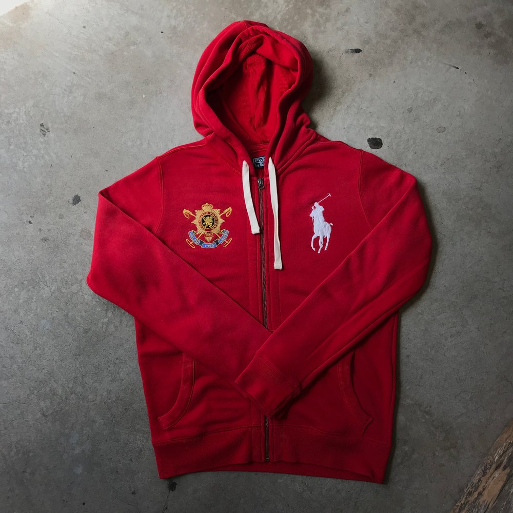 Image of Ralph Lauren Red Hoodie W/Big Horse