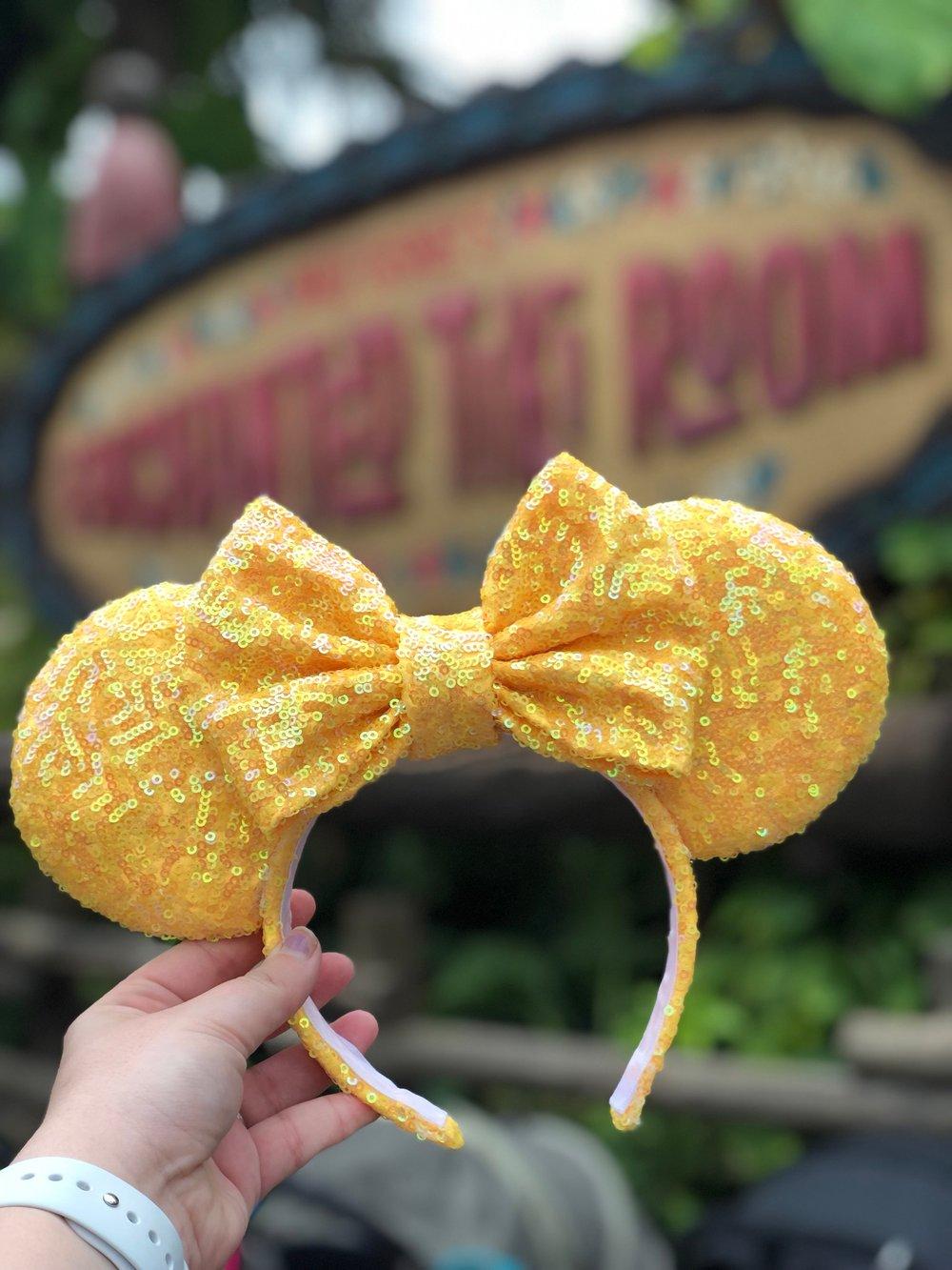 Image of Yellow Pixie Sequin Ears