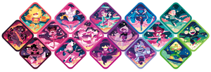 Image of 16 Stickers Set