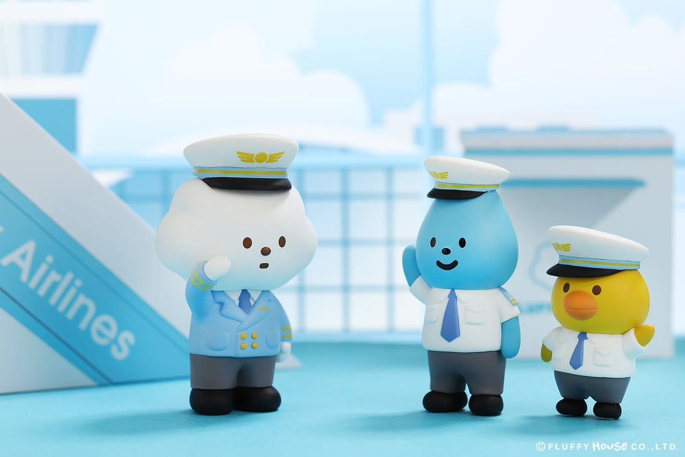 Image of Mr. White Cloud Mini Series 5 - FLUFFY AIRLINES (Whole Set)