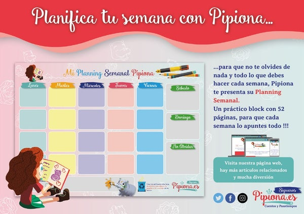 Image of Planning semanal Pipiona