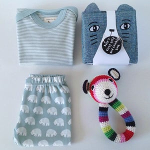 Image of Blue Bear Baby Gift Box