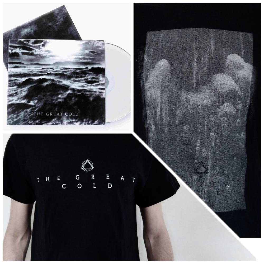 """Image of CD + Shirt """"Logo"""" OR """"Glacial"""""""