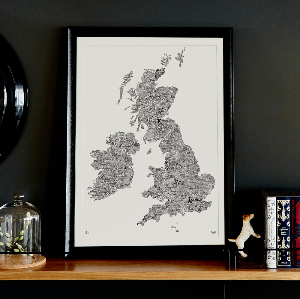 Image of The Great British Type Map (White)