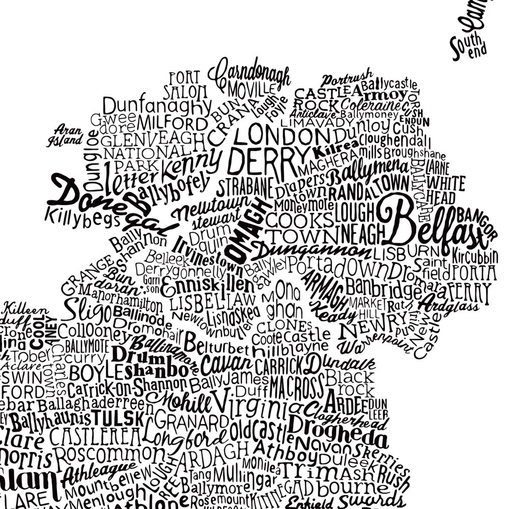 The Great British Type Map (White)