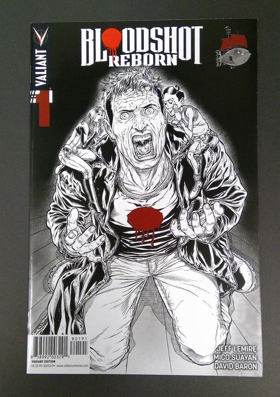 Image of Bloodshot Reborn #1 Juan Jose Ryp sketch variant ssalefish exclusive