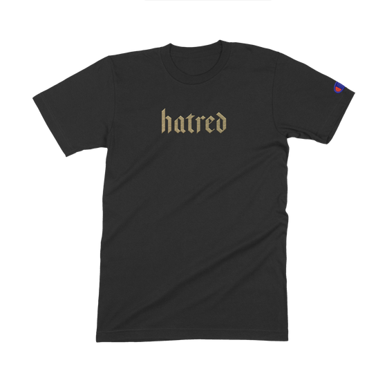 """Image of """"Hatred"""" Embroidered T Shirt"""