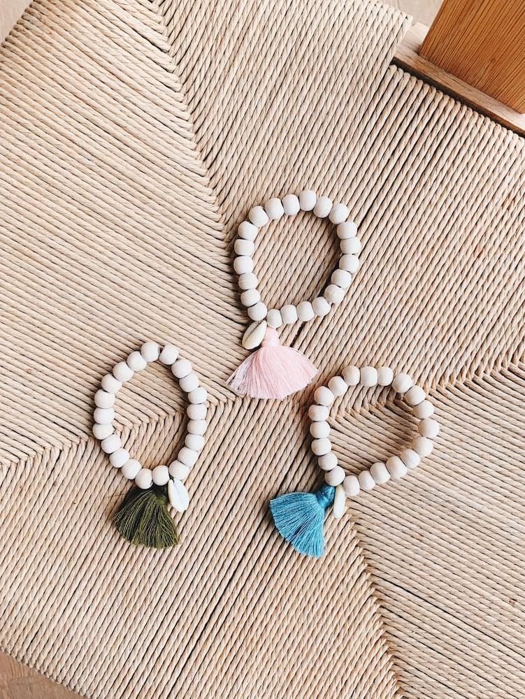 Image of Wooden Shell and Tassel Bracelet