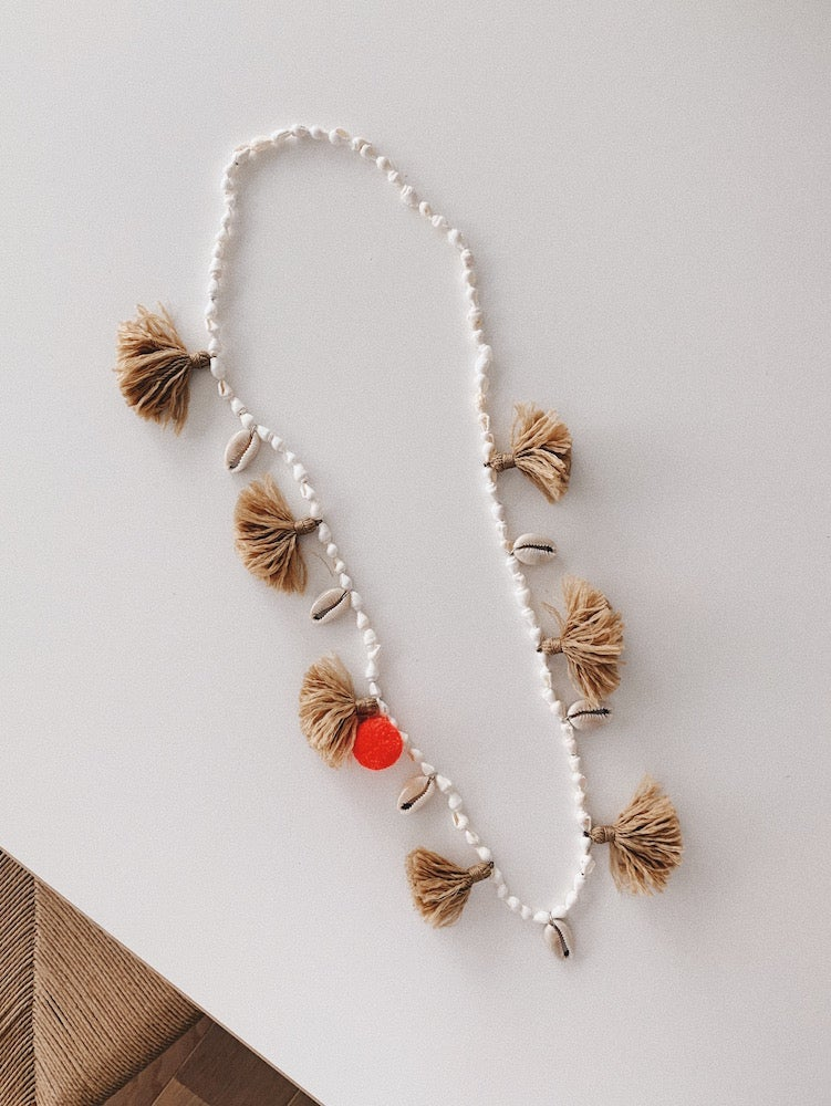 Image of Shell Necklace with Tassels