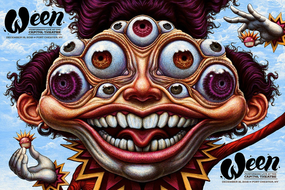 Image of Ween full sheet gig poster- Dec 15 & 16