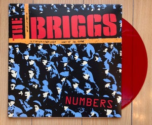 Image of NUMBERS on red color vinyl