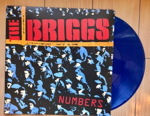 Image of Numbers on blue color vinyl