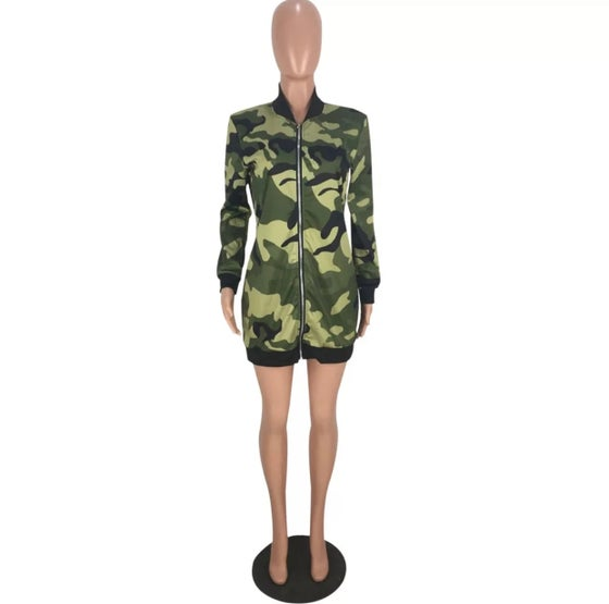 Image of Camo Jacket Dress