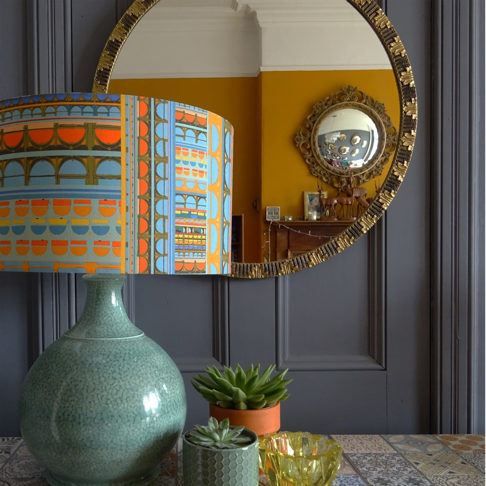 Image of Curve Blue Lampshade