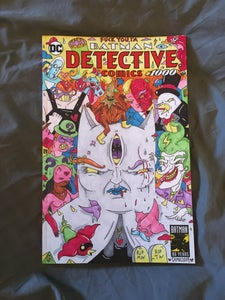 Image of Detective Comics #1000 Hand Drawn Cover and Back (Pen and Markers)