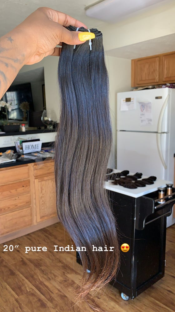 Image of Raw Indian Straight 13*4  frontal w/ bundle deals & 3 bundle deals