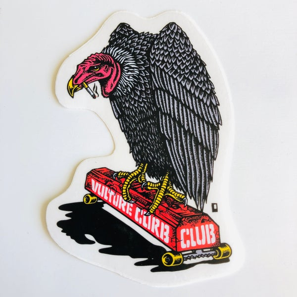 "Image of ""Vulture Curb Club"" sticker"