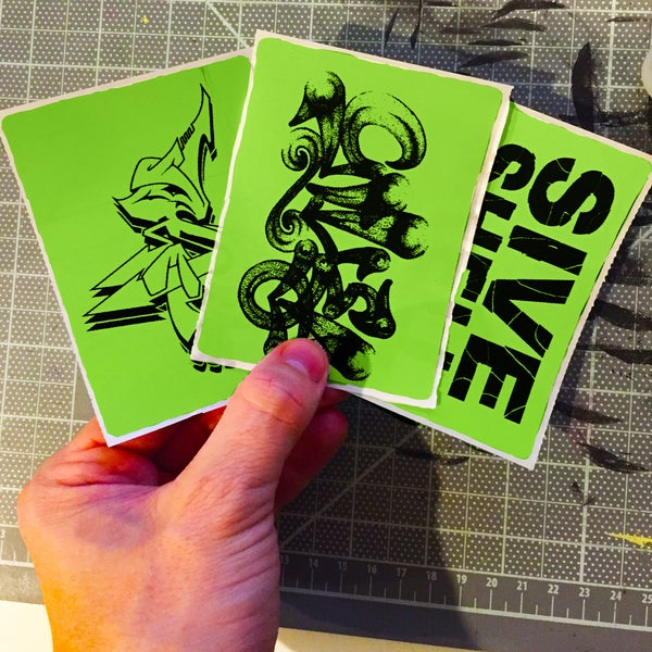 Image of Green Custom Thermal Transfer Stickers