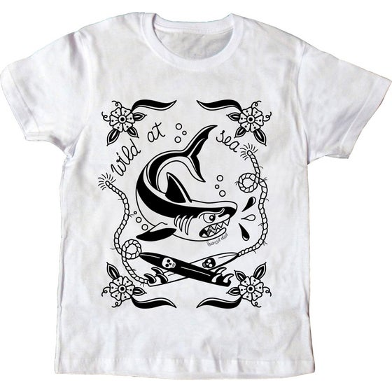 Image of Wild at sea shark T-shirt