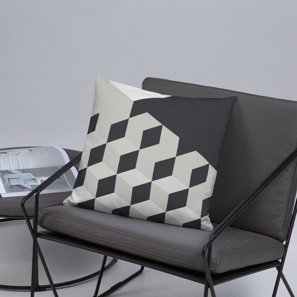 Image of Gradient Cubes Throw Pillow