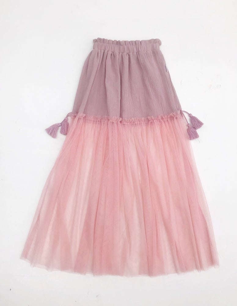 Image of 'haze' maxi skirt in rose
