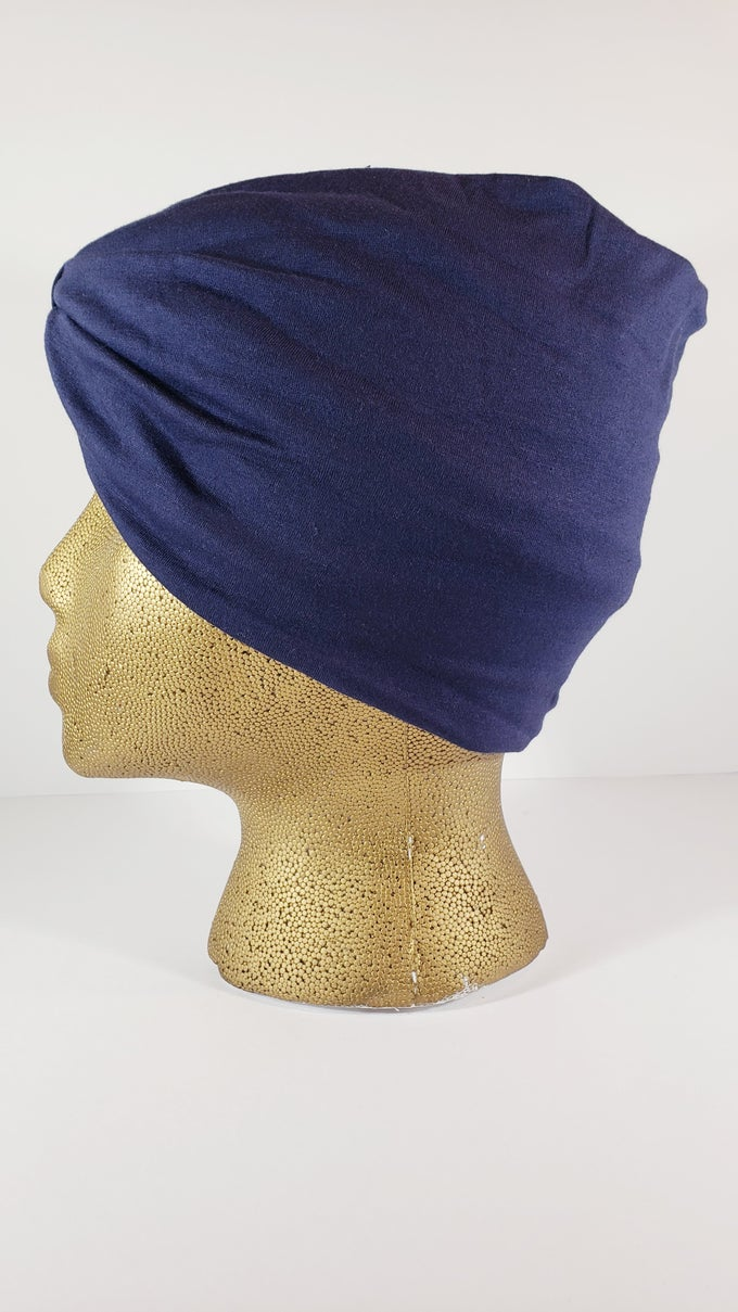 Image of Navy Hair Wrap