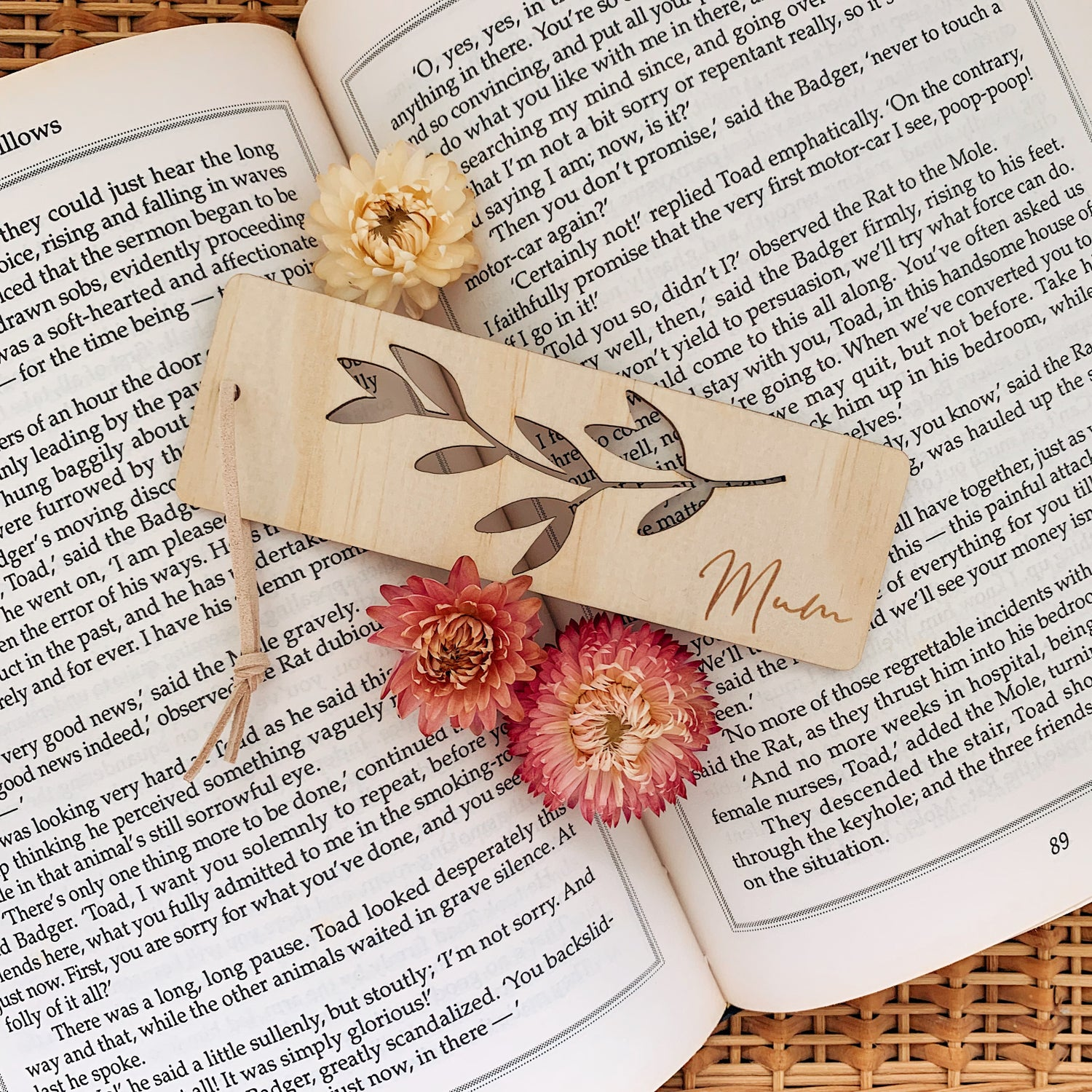 Image of Vine | Timber bookmark