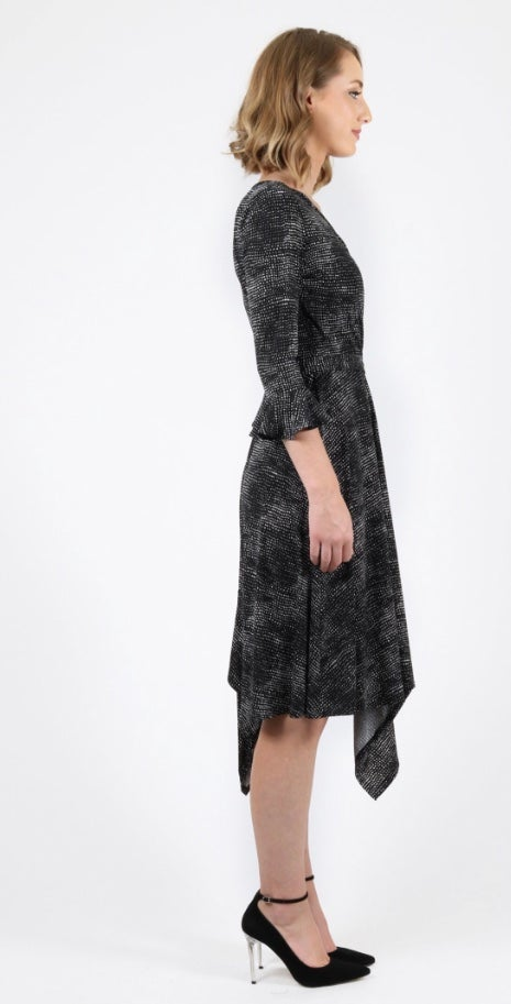 Image of Maiocchi Frill Frenzy dress- multi OR black