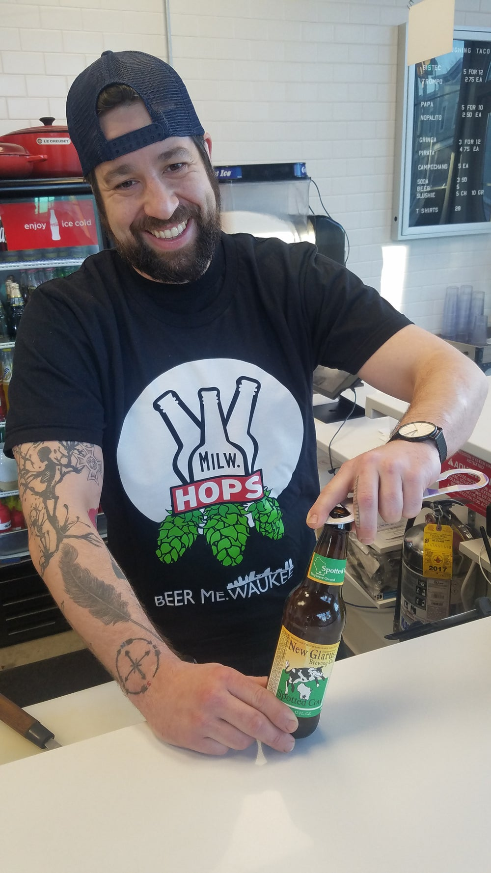 Hops & Bottles Tee (Black)