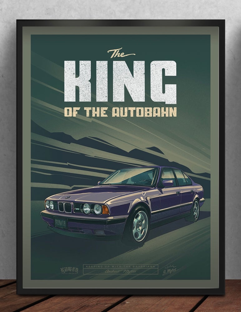 Image of The King Of The Autobahn Poster
