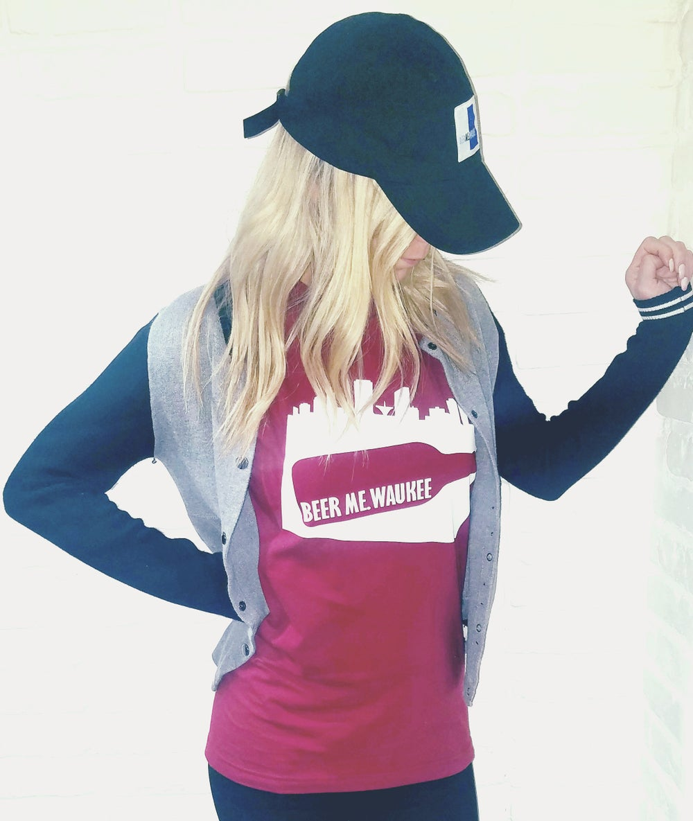 Maroon Bottle Skyline tee