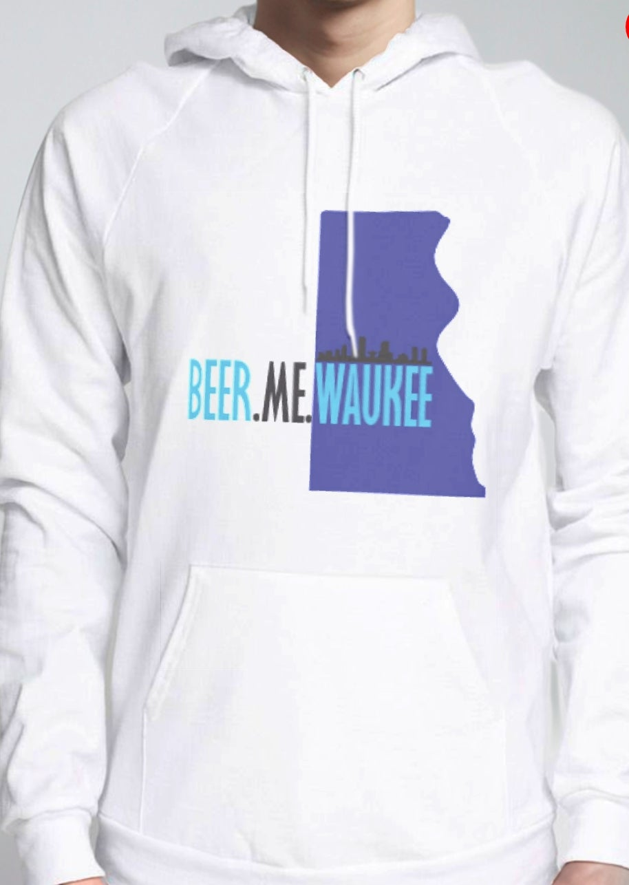 Image of City of Milwaukee Outline - White Hoodie