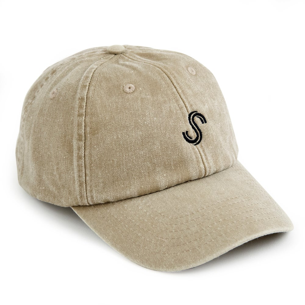 Image of S LOGO DAD CAP - STONE WASH