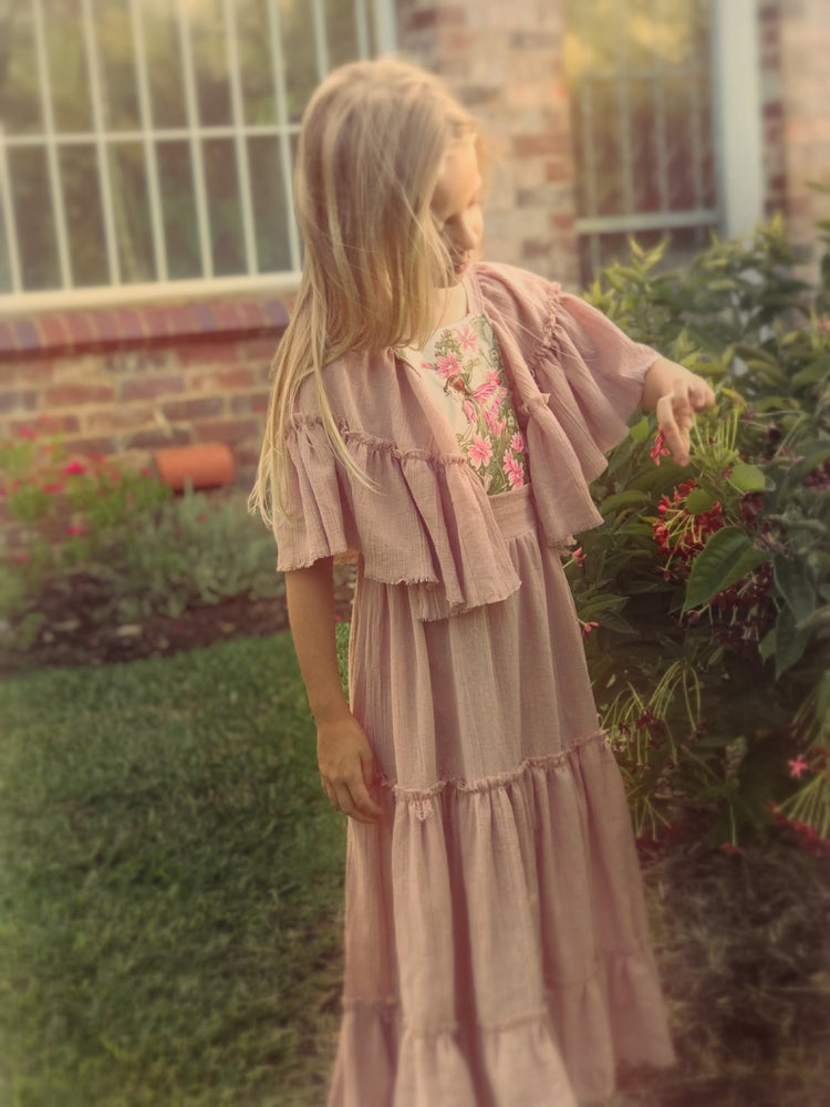 Image of 'blossom' flower fairy dress in dusty rose