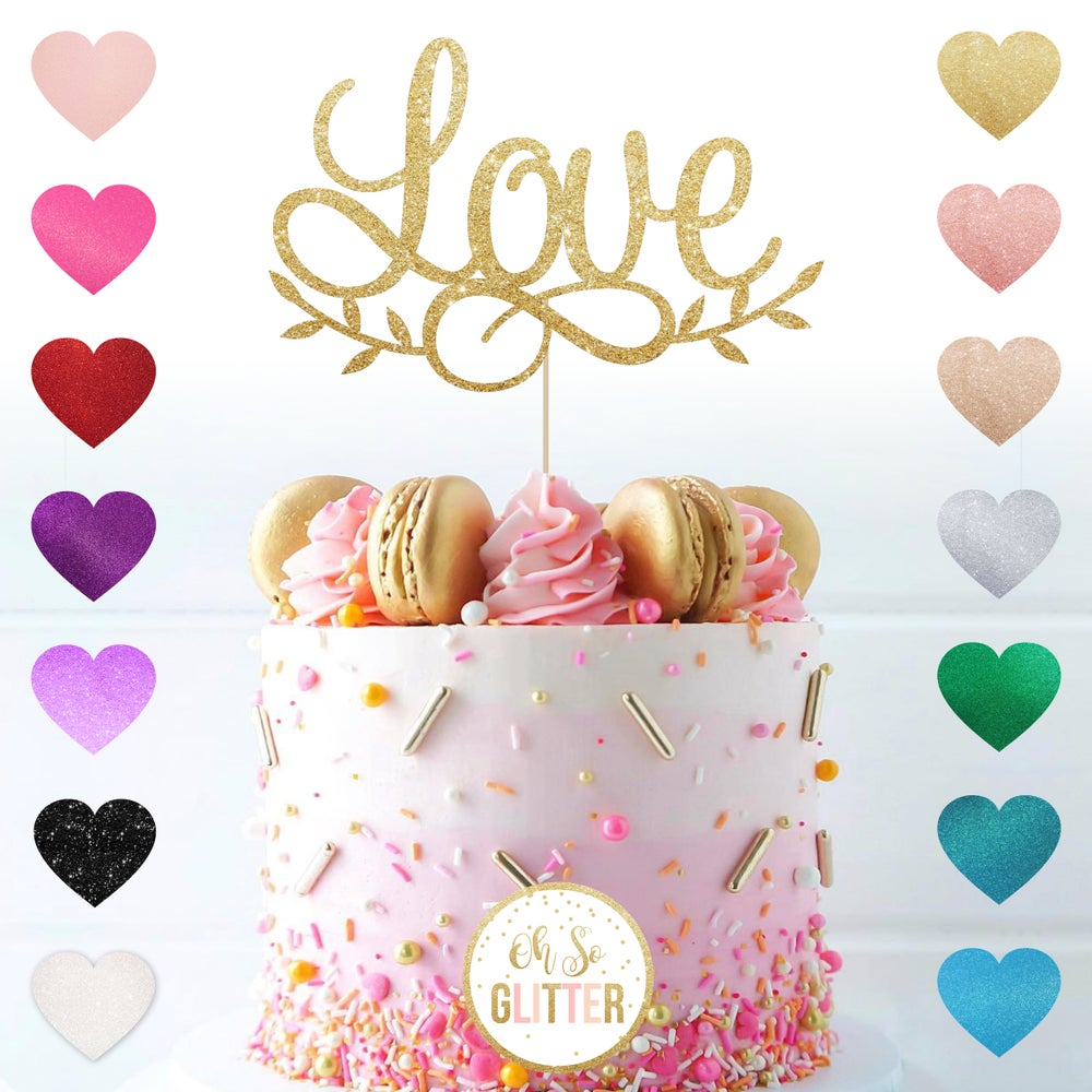 Image of Love - cake topper
