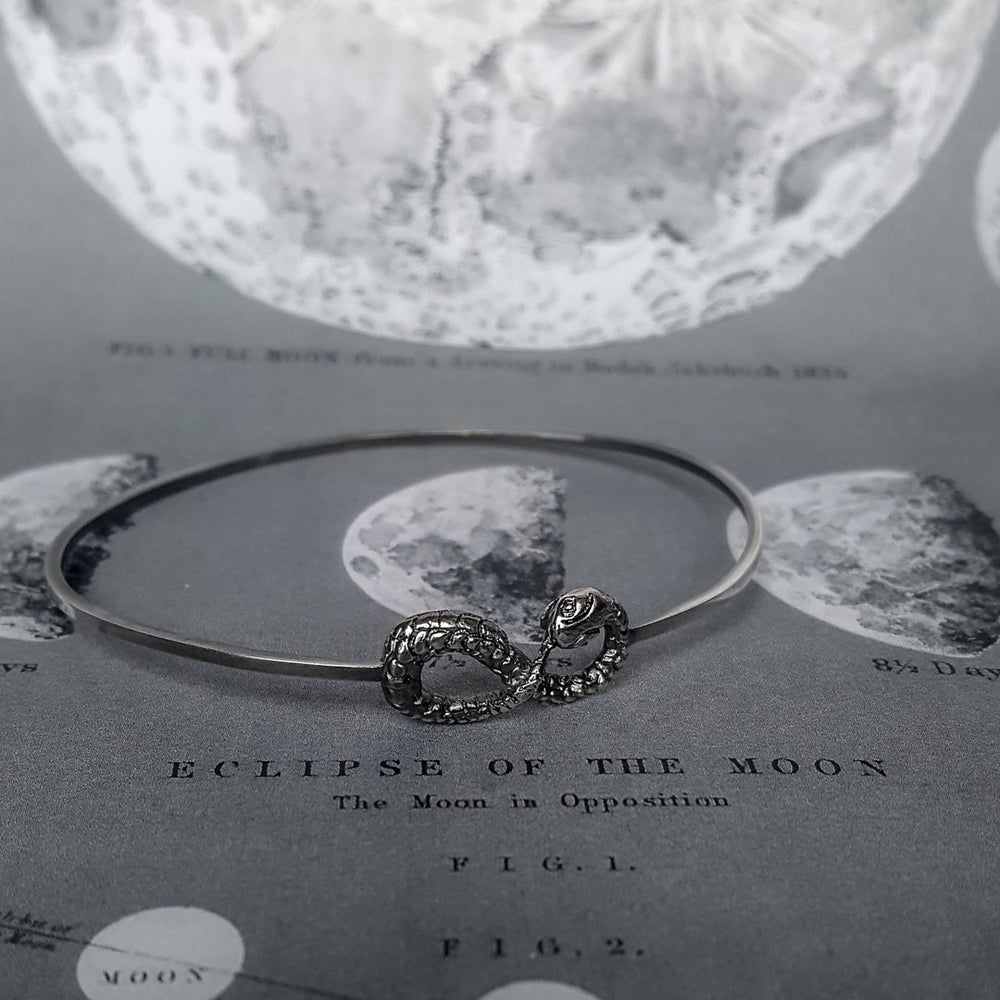 Image of OUROBOROS Silver Bangle
