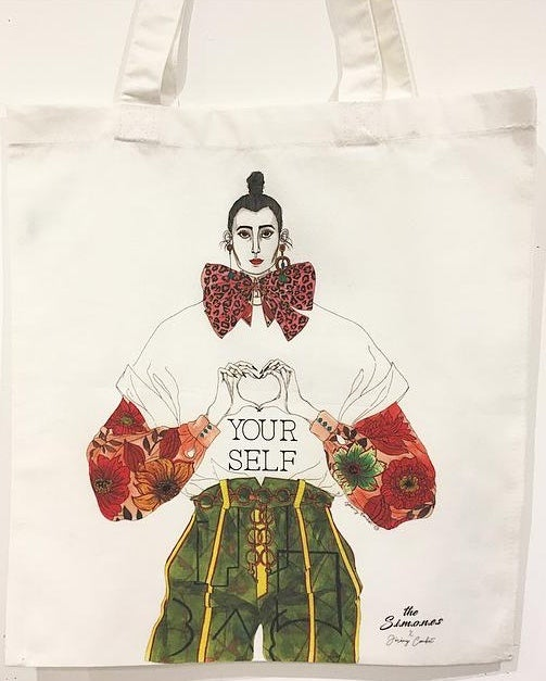 Image of TOTE-BAG LOVE YOURSELF - THE SIMONES X JEREMY COMBOT