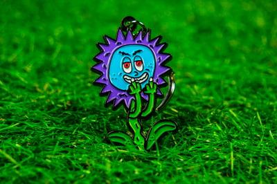 Image of FUCK YA Flowers Keychain