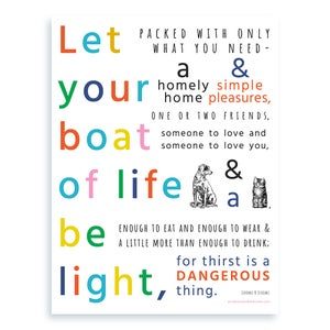 Image of Let Your Boat of Life Be Light MINI PRINT