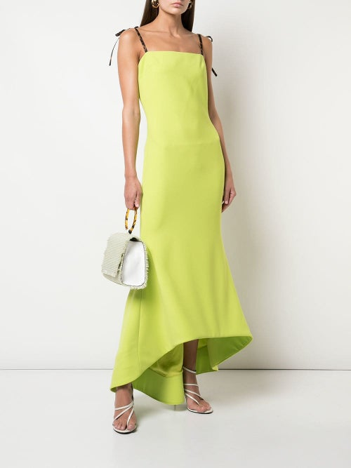 Image of Tie Shoulder High Low Dress